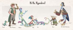 Hi Ho Hyperdrive: Crew Lineup by chill13