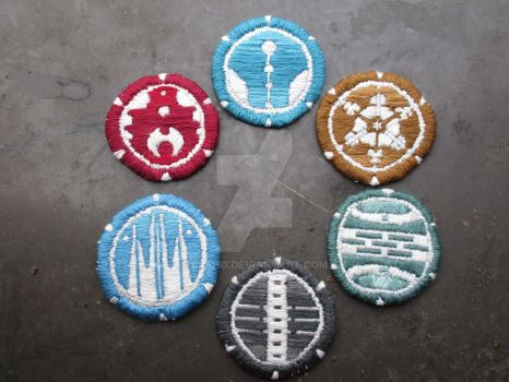 Metru Nui Patches by Elaho