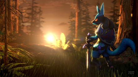 Lucario / Zelda Crossover by IndexSFM
