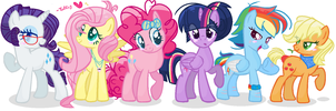 NG: Older/Future Mane Six by Tuff--Rubies
