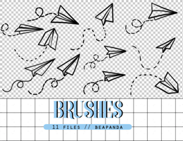 Brushes 012 // Paper Airplane by BEAPANDA