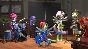 [SFM] Rainboom Rehearsal 4k2k (old) by OC1024