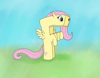 F is for Fluttershy by UltraTheHedgetoaster