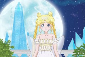 Neo Queen Serenity in Sailor Moon Crystal 3 style by Fegarostalida