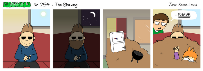 EWCOMIC No. 254 - The Shaving by eddsworld