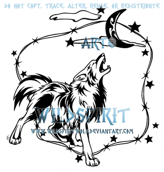 Howling Coyote Tattoo Commish by WildSpiritWolf