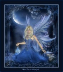 Blue Fae in Moonlight by CaperGirl42