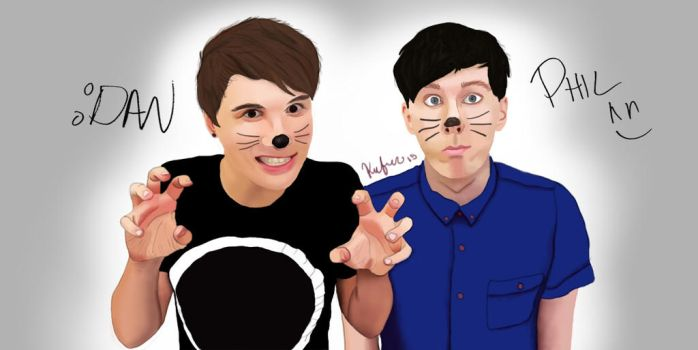 Dan and Phil by TheOfficialCasi