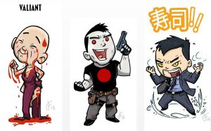 Valiant Comics Chibis by FutureDwight