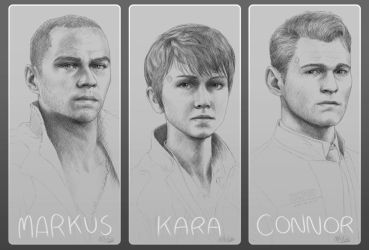 Detroit: Become Human Sketches by Atarial