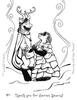 Coloring Page - Beast and Bride by rachelillustrates