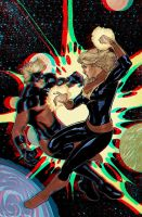 Captain Marvel 3D Anaglyph by xmancyclops