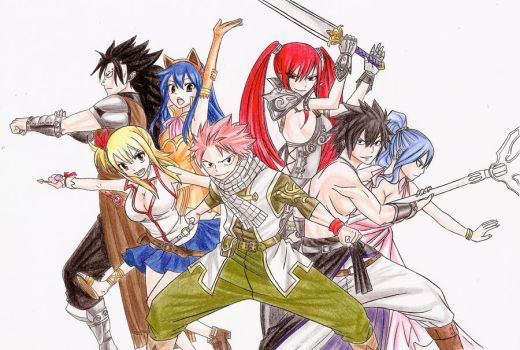 Fairy Tail 294 cover colored by Chocogirl3