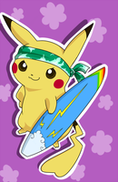 Dreemi the Surfing Pikachu by Nestly