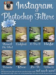 Instagram Photoshop Filters by SnapShot120