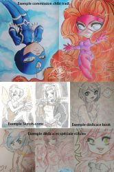Exemples commissions and sketchs by Flfleur