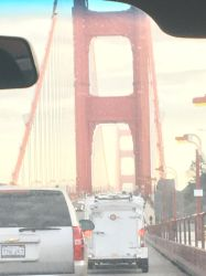 Crossing the Golden Gate Bridge on New Years Eve by sfgiants58