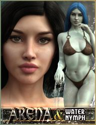 EJ Arena and Water Nymph for Genesis 3 Female by emmaalvarez