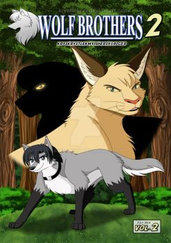 Wolf Brothers II Vol.2 Manga Cover (2014) by krystlekmy