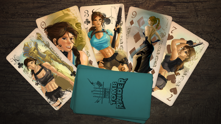 Valley of Kings - Tomb Raider Classic Card Deck by jwebsterart