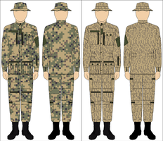 US Army post-1975 experimental patterns by Tounushi
