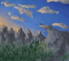 Craggy Mountains speedpaint by Meagharan
