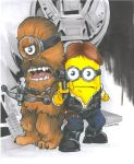 Han Solo Chewbacca Minions Commission Wizard World by DKHindelang