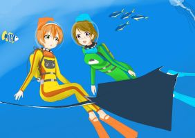 RinPana diving by MagatsuReinami