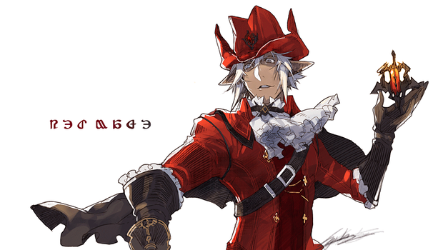 scribble: Red Mage by kugelcruor
