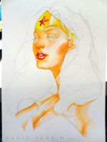 Wonder Woman Watercolour Step 3 by davidyardin