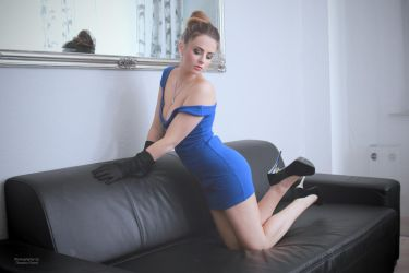 Jana in blue dress 10 by PhotographyThomasKru