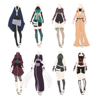 Naruto Outfit Adoptables 6 [CLOSED] by xNoakix3