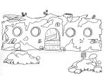 Log Cabin - Coloring Page by DesignedByLaura