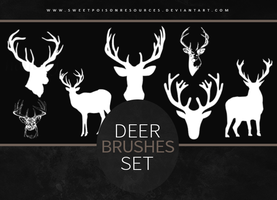 Deer Brushes   Photoshop by sweetpoisonresources