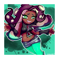 Marina - Off the Hook! by treespeakart