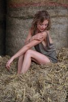 With Anna in the hay 6 by PhotographyThomasKru