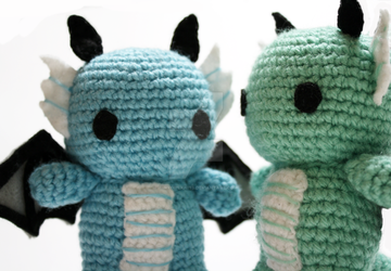 cute baby dragons by tinyowlknits
