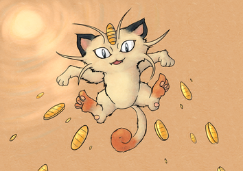 Beckoning Meowth (It's Payday!) by tstroyerfosho