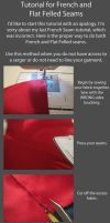 Tutorial-CORRECT French and Flat Felled Seams by RuffleButtCosplay