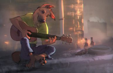Playing the Blues by MonoFlax