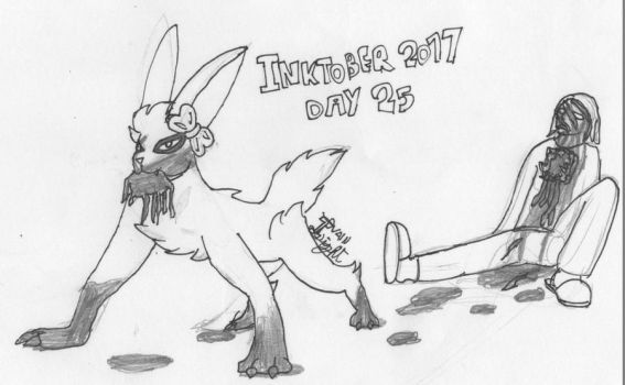 Inktober2017Day25 - Fear the Bloodthirsty Bunnies by IvainLight