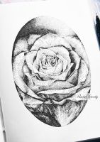 Rose - Dotwork Drawing by RachelFelicity