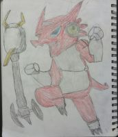My first attempt of the Shoutmon  by ShoutShoutmon
