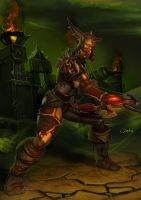Hunter from World of WarCraft in t8 set by Ork-artist