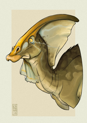 Parasaurolophus by CamaraSketch