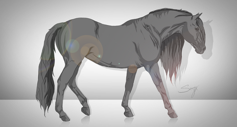 Greyscale Horse by premiumbulldogs