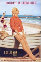 Collignon - Cherbourg Poster Vintage by Aste17