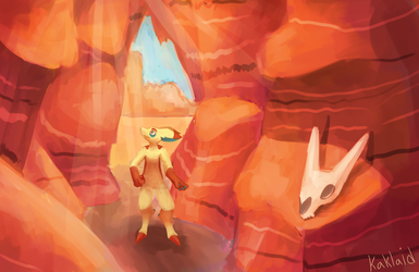 Kayo in the Marrow Canyon by Kaklaid