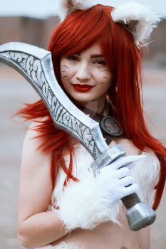 Kitty Cat Katarina cosplay from League of Legends by LadySundae