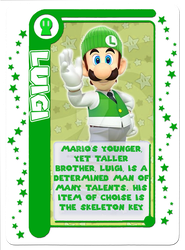 Mario Party Card Game: Luigi Character Card by Assassannerr